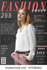 Fashion Magazine Cover Images, Stock Photos & Vectors ...