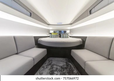 Boat Interior Images  Stock Photos   Vectors  10  Off    Shutterstock motor boat interior  anvera shipyard