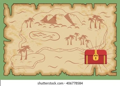 Treasure Hunt Map Images  Stock Photos   Vectors   Shutterstock Ancient old pirate treasure map pattern  island map on brown old paper and  ancient treasure