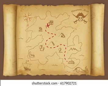 Treasure Map Images  Stock Photos   Vectors   Shutterstock Treasure map
