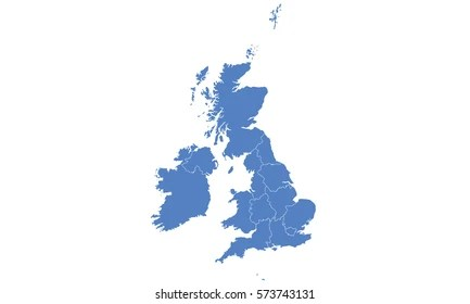 United Kingdom Images  Stock Photos   Vectors   Shutterstock United Kingdom map blue color