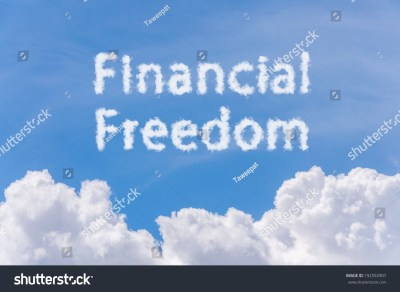 Financial Freedom Concept Text Cloud On Stock Photo 192592907 - Shutterstock