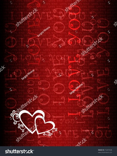 Wallpaper With Love Hearts Against Colour Background Stock Photo 75497638 : Shutterstock