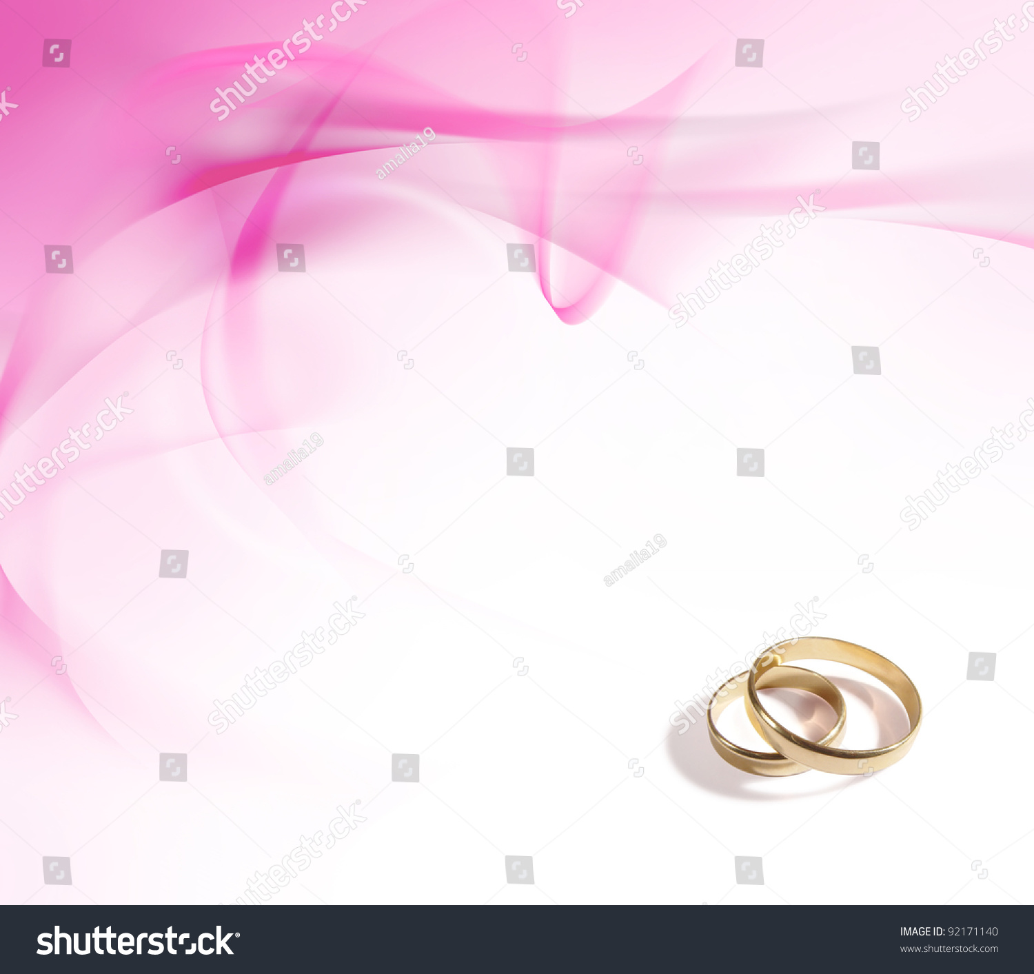 stock photo wedding rings and delicate pink background pink wedding rings Wedding rings and delicate pink background