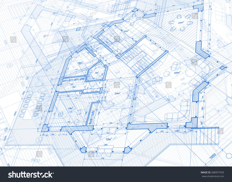 Architecture design blueprint vector illustration smdqueen architecture design blueprint vector illustration malvernweather Image collections