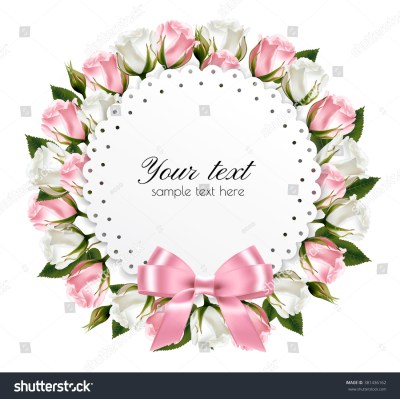 Flower Background Made Out Pink White Stock Vector 381436162 - Shutterstock