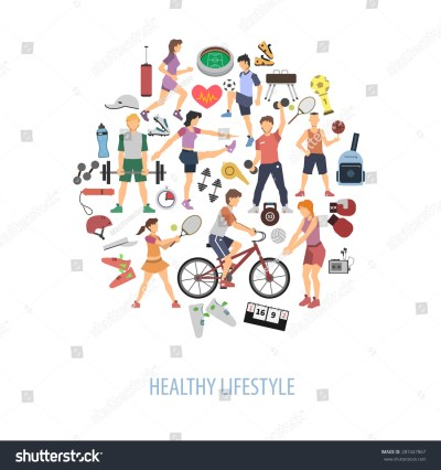 Healthy Lifestyle Concept People Playing Sport Stock ...