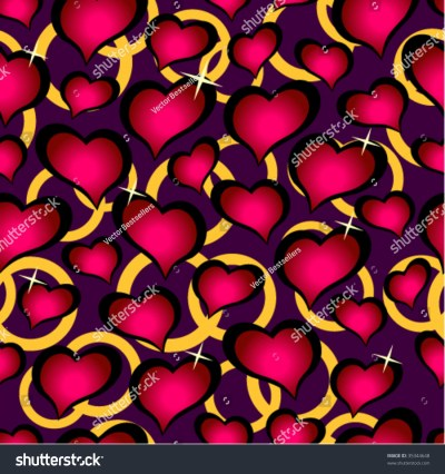 Seamless Vector Texture With Hearts. You Can Create The Wallpaper With This Pattern, Color Of ...