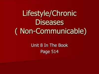 PPT - Lifestyle/Chronic Diseases ( Non-Communicable ...