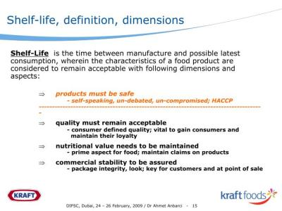 PPT - Shelf-Life of Pre-packaged Food Products An Industry ...