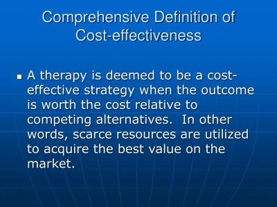 PPT - Basics of Pharmacoeconomics and Outcomes Research: Application to Patient Care PowerPoint ...