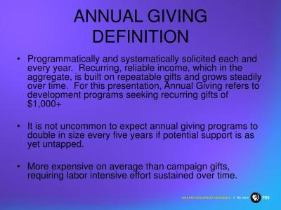 PPT - CAPITAL CAMPAIGNS AND ANNUAL GIVING PowerPoint Presentation - ID:354882
