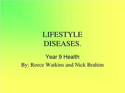 PPT - LIFESTYLE DISEASES. PowerPoint Presentation - ID:381692