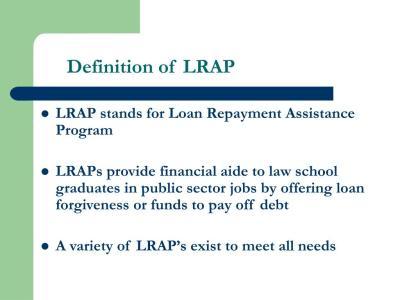 PPT - American Bar Association Law Student Division Loan Repayment Assistance Program (LRAP ...