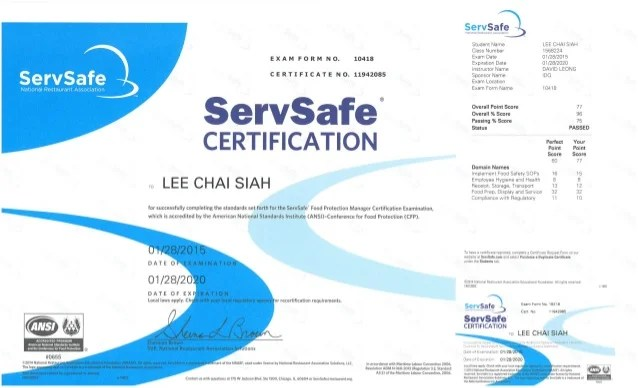 Servsafe Food Protection Manager Certification Online Examination ...