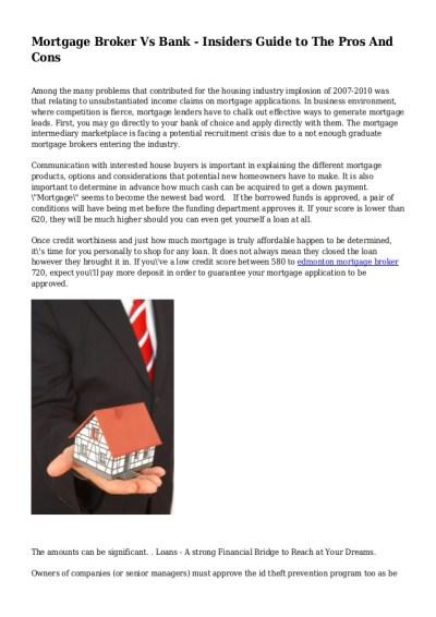 Mortgage Bank - Mortgage Lender Vs Bank | Best of the Bank