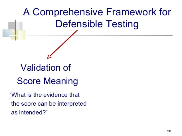 Validation of Score Meaning and Justification of a Score Use: A Compr…