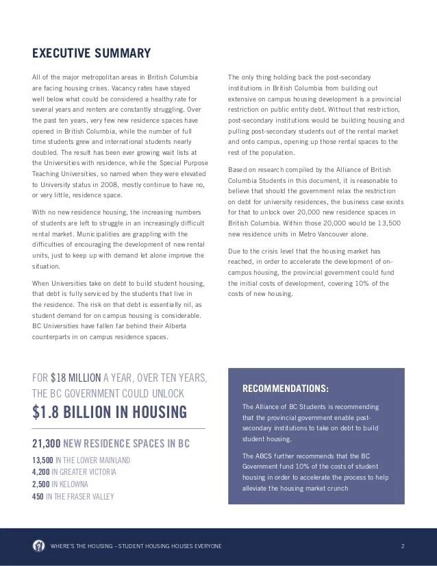 ABCS - Student Housing White Paper