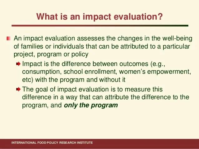 Ahmed ifpri impact evaluation methods_15 nov 2011