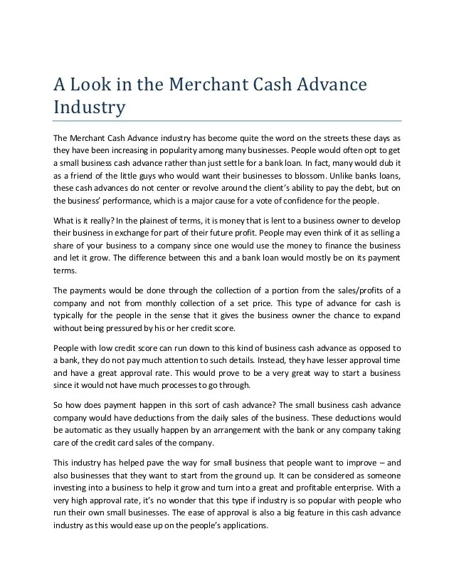 The Advantages and Disadvantages of Getting a Business Cash Advance