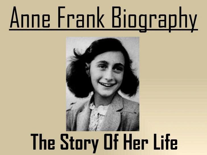 Anne frank biography Serg