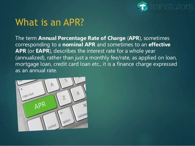 Annual Percentage Rate (APR) | Accounting