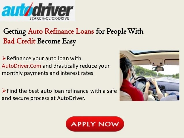 Auto Refinance Loans for People With Bad Credit