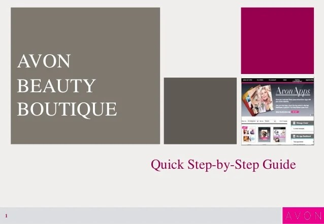 Avon Beauty Boutique Step by Step Guide