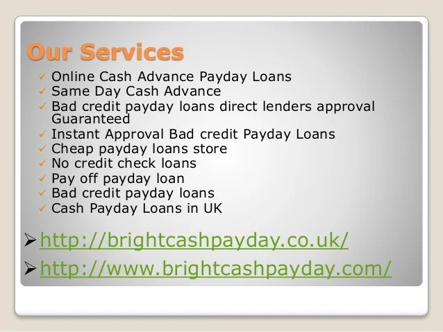No Credit Check Payday Loans Online Direct Lenders
