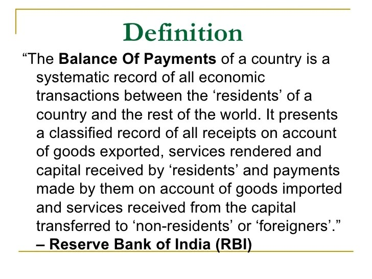 Balance Of Payment ( Bo P)