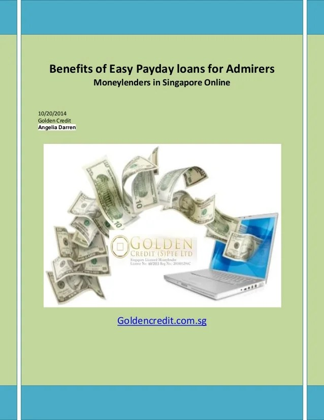 Benefits of easy payday loans for admirers