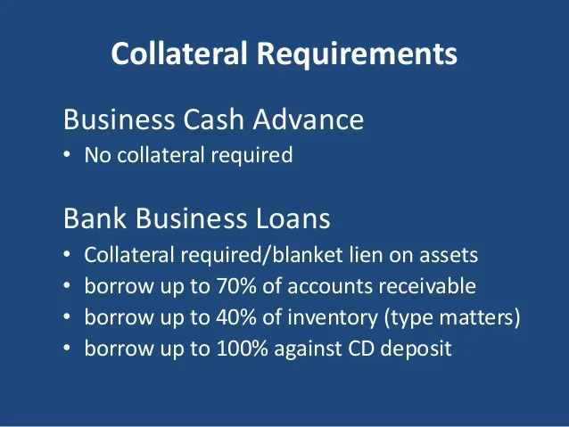 Bank Business Loans vs Business Cash Advance