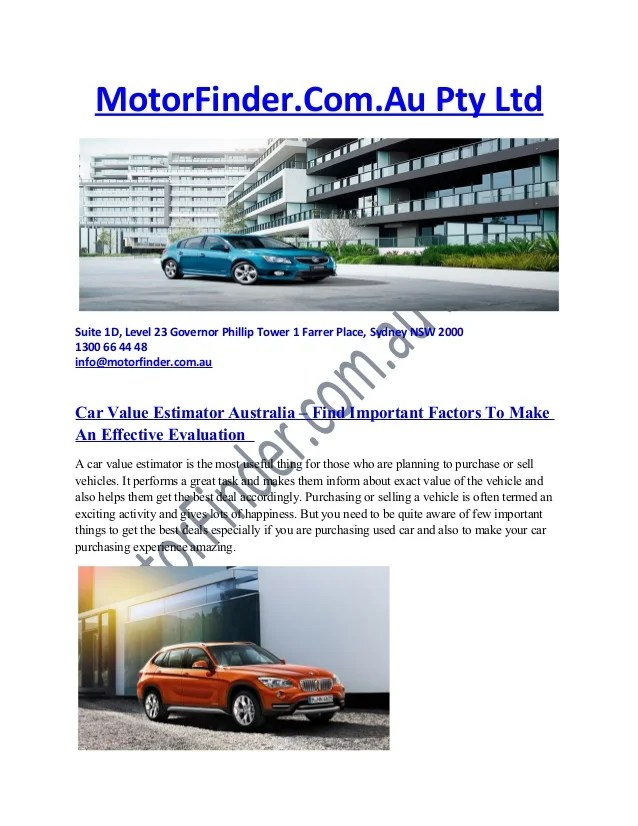 Car value estimator australia – find important factors to make an eff…