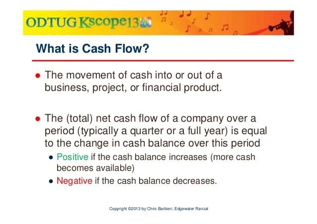 Cash flow in hfm – simplified