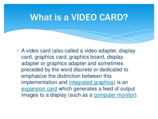 Video Card (chs)