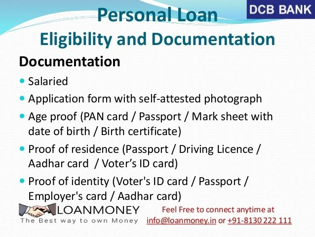 DCB Bank Personal Loan in Delhi/NCR through LoanMoney
