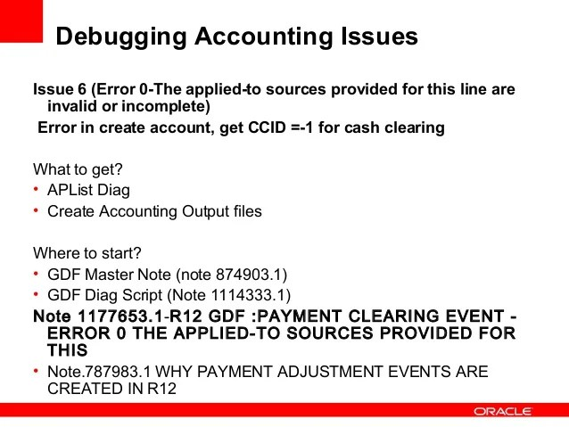 Debugging accounting r12
