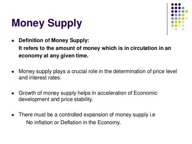 Demand and supply of money