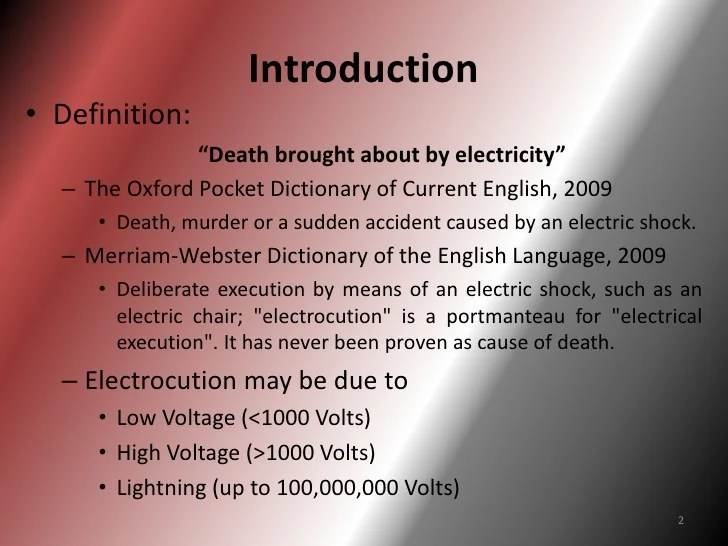 Electrocution rs