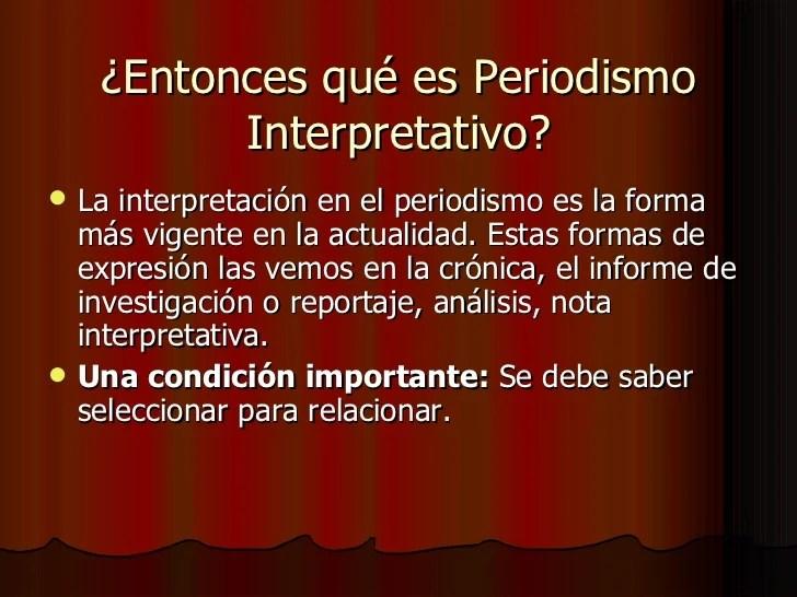 El periodismo interpretativo[1]