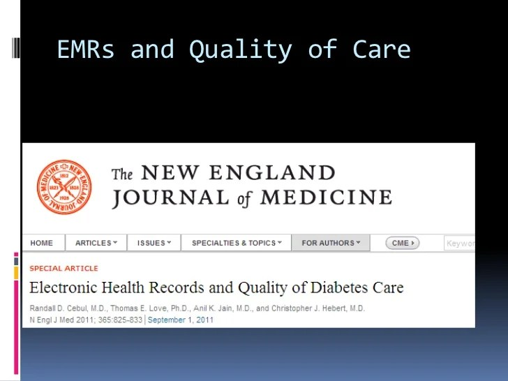 EMR and Quality of Care