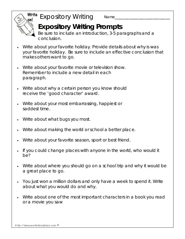 Expository writing-prompts
