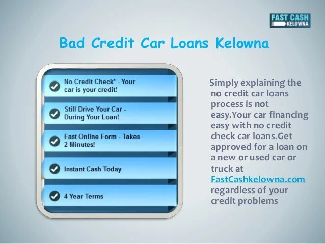 Fast cash car title loans kelowna