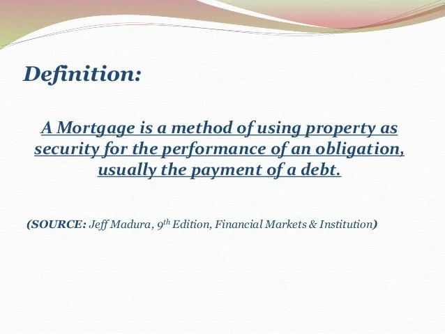 Mortgage Markets (Financial markets & institution)