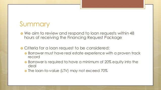 How to Package a Loan Request for Construction, Rehab, and ...