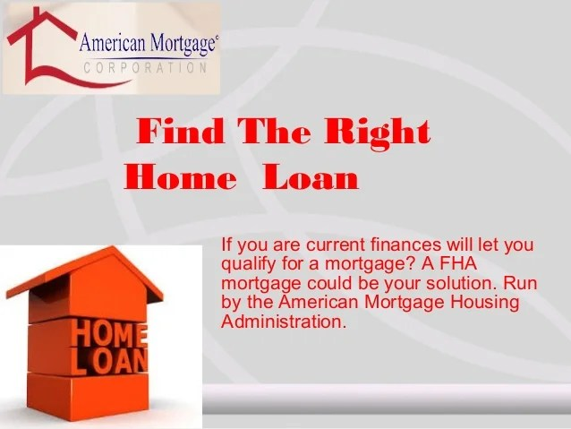 Find the right home loan