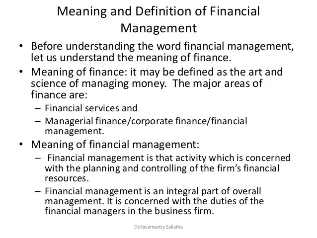 Financial Management- module-1