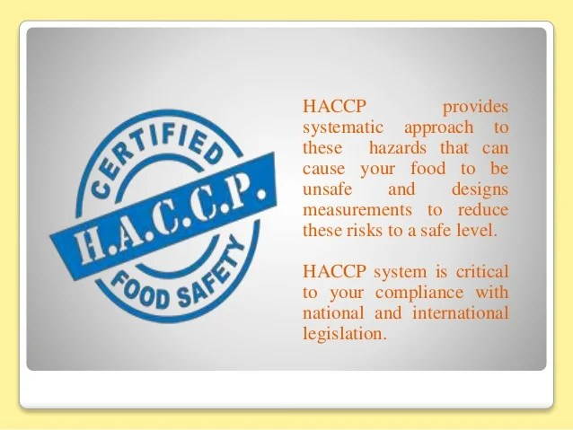 Food Safety Haccp Certification | Foodstutorial.org