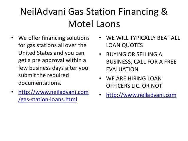 Gas station financing | Motel Loans | Motel finance