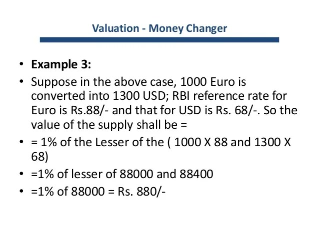 Gst valuation & amp; rules
